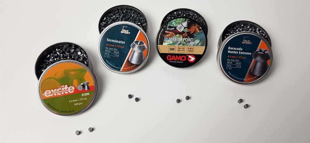 Diabolo vs BB steel ball pour pistolet CO2 : expérience avec tête pointue, pointe creuse, terminator & baracuda