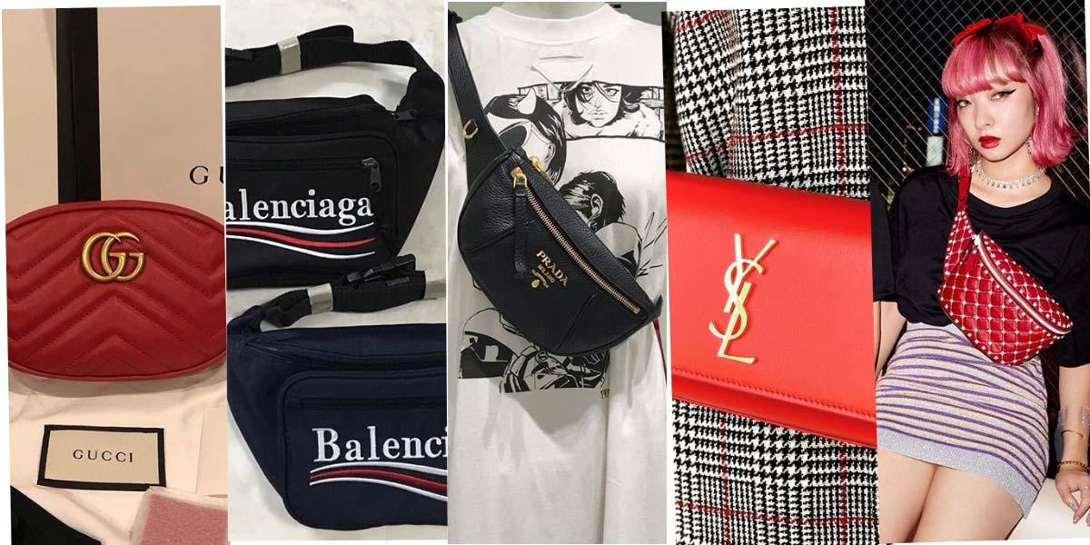Marques de luxe et sacs fanny : Valentino, Miu Miu, Prada & Co.