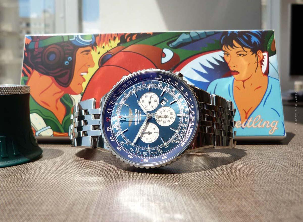 Breitling Navitimer : montre de pilote avec un cadran spécial pour hommes et femmes