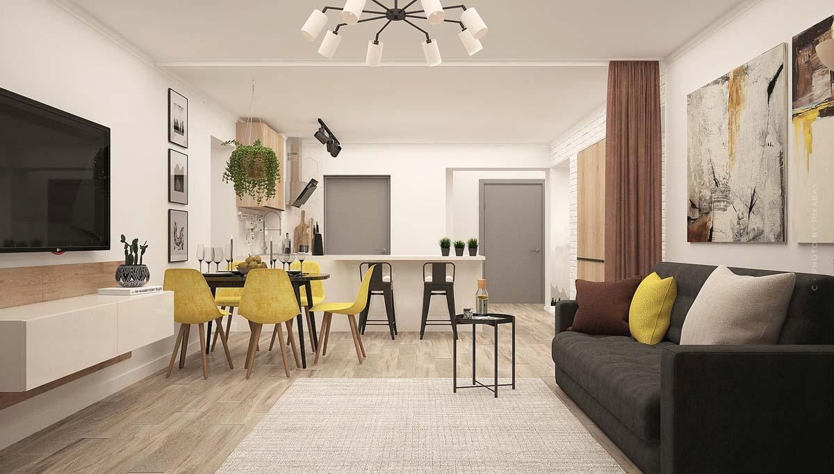 Appartement : charmants petits appartements pour célibataires, étudiants et personnes âgées.