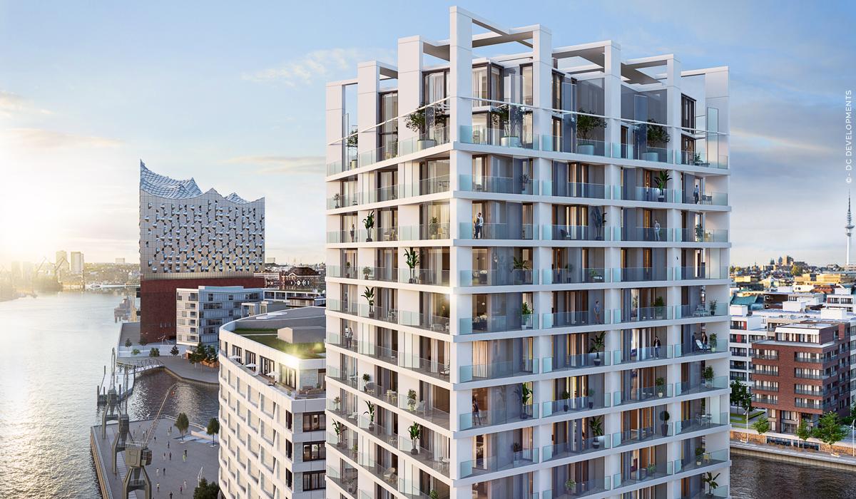 The Crown : Propriétés de luxe Hamburg HafenCity - Appartements en copropriété avec vue sur l'Elbphilharmonie ! Nouvelle construction